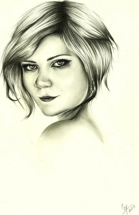 Kirsten Dunst par crayon2papier